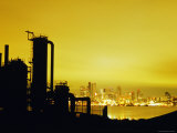 Ruins of Seattle Gas Light Company at Gasworks Park with Downtown and Lake Union in Background Photographic Print by Ryan Fox