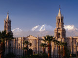 Arequipa Cathedral and Chachani Volcano Photographic Print by Karl Lehmann