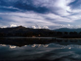 Annapurna Himal Reflected in Phewa Lake Photographic Print by Richard I'Anson