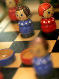Detail of Wooden Doll Chess Set Photographic Print by Bruce Bi