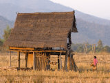 Traditional Lao-Style House Outside Hongsa Photographic Print by Austin Bush
