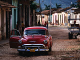 Classic American Car on Cobbled Street Photographic Print by Tim Hughes