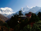 Tengboche Monastery in Front of Mt Everest, Lhotse, Nuptse and Ama Dablam Photographic Print by Richard I'Anson