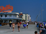 People on Rehoboth Beach Boardwalk Photographic Print by Kraig Lieb