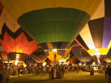 Balloon Glow Show at the Albuquerque International Balloon Fiesta Photographic Print by Witold Skrypczak