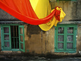 Colourful Cloth and Shuttered Windows Photographic Print by Merten Snijders