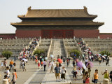 Summertime Crowds, Forbidden City, Dongcheng Photographic Print by Greg Elms