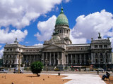 Palacio Del Congreso, on Plaza Del Congreso Photographic Print by Craig Pershouse
