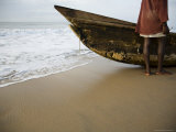 Canoe on Beach Photographic Print by Christopher Herwig