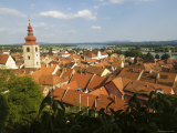 Red Roofs and Church Steeple of Ptuj Town Photographic Print by John Elk III