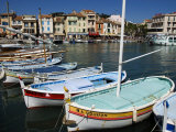 Boats Moored at the Fishing Port in Cassis Photographic Print by Glenn Beanland