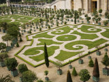 Geometric Patterns are a Feature of the Gardens at the Chateau De Versailles Photographic Print by Russell Mountford