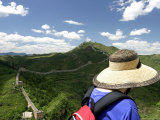 Looking over Great Wall of China Photographic Print by Brian Cruickshank