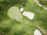 Aerial of Golfers on Green of Tierra Del Sol Golf Course Photographic Print by Holger Leue