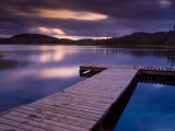 Wharf at Sunset, Reserve Faunique Des Laurentides Photographic Print by Guylain Doyle