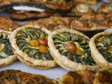 Quiche for Sale at the Market Photographic Print by Russell Mountford