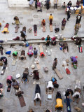 Pilgrims Prostrating Themselves at Entrance to the Jokhang Photographic Print by Tim Hughes