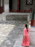 Woman Walking Through Summer Palace Photographic Print by Brian Cruickshank