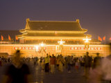 Gate of Heavenly Peace at Night from Tiananmen Square Photographic Print by Greg Elms