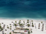 Aerial of Bucuti Beach Resort Restaurant on Eagle Beach Photographic Print by Holger Leue