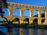Pont Du Gard and Canoes Photographic Print by Bethune Carmichael