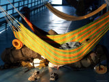 Backpackers Sleeping in Hammocks on a Passenger Ferry Heading Towards Iquitos Photographic Print by Paul Kennedy