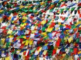 Prayer Flags at Tsangpa Monastery Photographic Print by John Sones