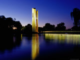 National Carillon Reflected in Lake Burley Griffin at Dusk Photographic Print by Richard I'Anson