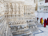 Intricately Carved Marble Walls of Jagdish Jain Temple Photographic Print by Orien Harvey