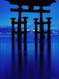 Floating Torii' at Night Photographic Print by Frank Carter