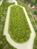Overhead of English Style Garden from Tower of Brittany, Chateau De Hautefort Photographic Print by Mark Avellino
