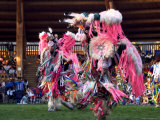 Adult Men in Team Dancing, Kamloops Pow Wow Photographic Print by Emily Riddell