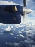 Twin Otter's Propeller Between Russell Islands and Marovo Lagoon Photographic Print by Simon Foale