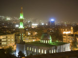 Overhead View of Damascus Skyline at Night from Le Meridien Damascus Hotel Photographic Print by Holger Leue