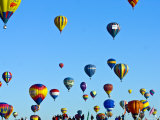 Hot Air Balloons at the Balloon Fiesta Photographic Print by Ray Laskowitz