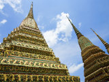 Spires at Wat Po, Ko Ratanakosin Photographic Print by Greg Elms
