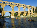 Canoeing Near Pont Du Gard Photographic Print by Glenn Beanland