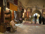 Carpets for Sale, Aleppo Souq Photographic Print by Holger Leue