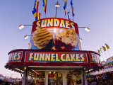 Sundaes and Funnel Cakes Stand at the New Mexico State Fair Photographic Print by Ray Laskowitz