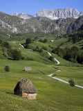 Thatched Roof Shepherd's Hut in Parque Natural De Somiedo Photographic Print by Matthew Schoenfelder