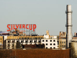 Silvercup Studios Sign, Chimney Stack and Buildings in Queens Photographic Print by Michelle Bennett