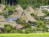 Thatched Roof Houses in the Village of Miyama, also known as Kita, or Kyabuki-No-Sato Photographic Print by Greg Elms