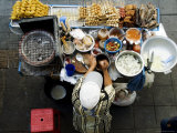Overhead of Vendor at Street Food Stall Photographic Print by Ray Laskowitz