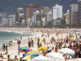 People Enjoying the Beach and Surf at Ipanema Beach Photographic Print by Tim Hughes
