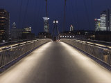 Holbeinsteg Pedestrian Bridge over River Main at Night Photographic Print by Holger Leue
