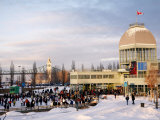 Domed Building with Canadian Flag Flying, Parc Du Bassin Bonsecours Photographic Print by Brian Cruickshank