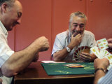 Old Men Playing Traditional Card Game in Bar Next to Fuente De Santa Cecilia Photographic Print by Dominic Bonuccelli