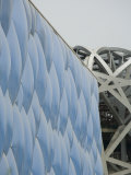 Detail of National Swimming Centre, Olympic Park Photographic Print by Greg Elms