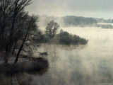 Mist on Irtysh River in Winter Photographic Print by Christopher Herwig