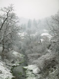 Winter Snow on a Smal Village Community, Transylvania Photographic Print by Gavin Quirke